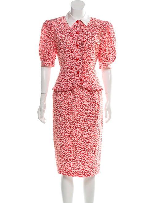 Valentino Silk Floral Dress