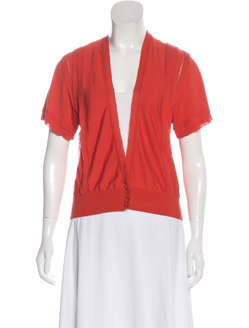 Valentino Lightweight Short Sleeve Cardigan Orange