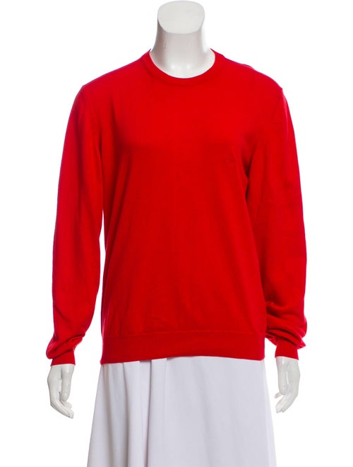Valentino Embroidered Lightweight Sweater Red