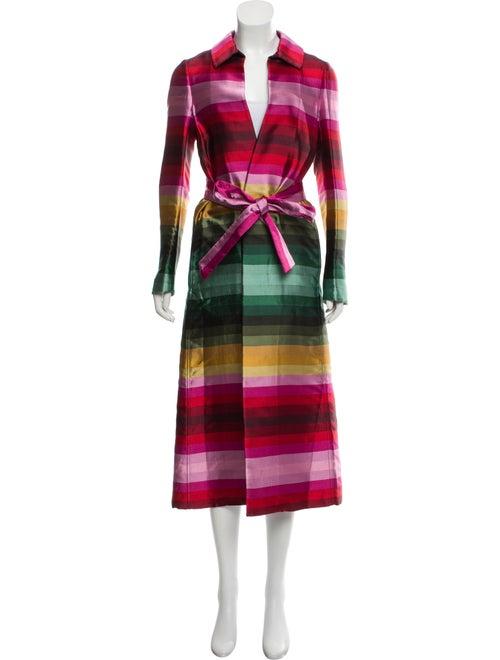 Valentino 2019 Silk Wrap Coat Red