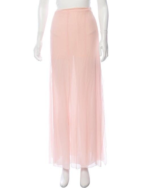 Valentino Silk Maxi Skirt Pink