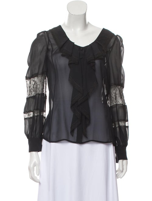Valentino Silk Lace Long sleeve Blouse