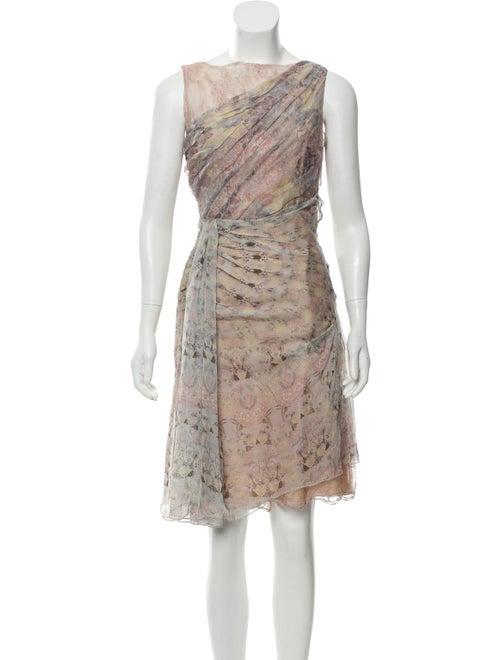 Valentino Silk Midi Dress Pink