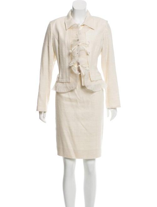 Valentino Silk Skirt Suit