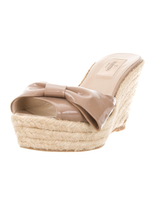 Patent Leather Slide Espadrilles