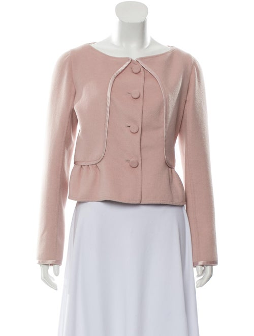 Valentino Wool Satin-Trimmed Jacket Pink