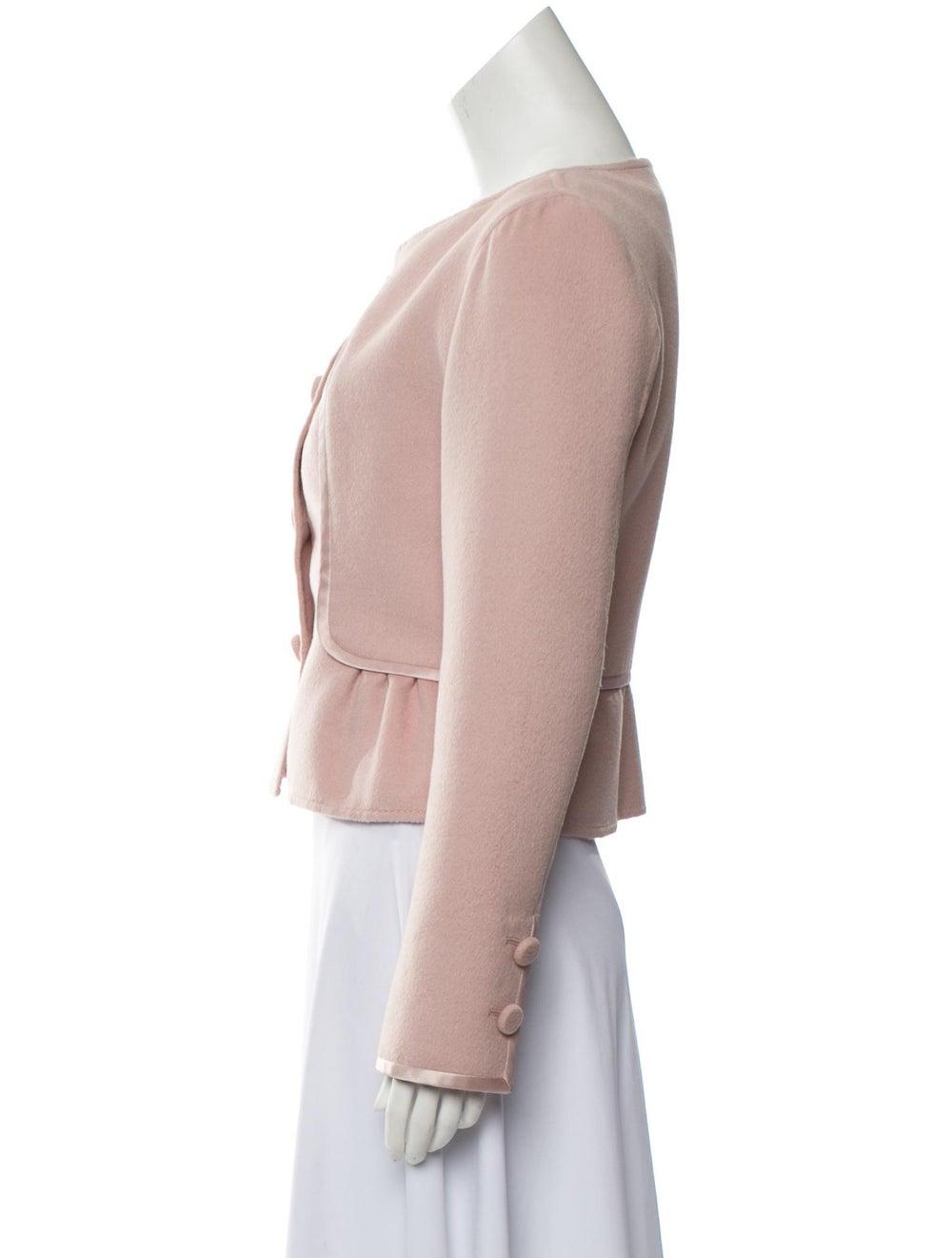 Valentino Wool Satin-Trimmed Jacket Pink - image 2