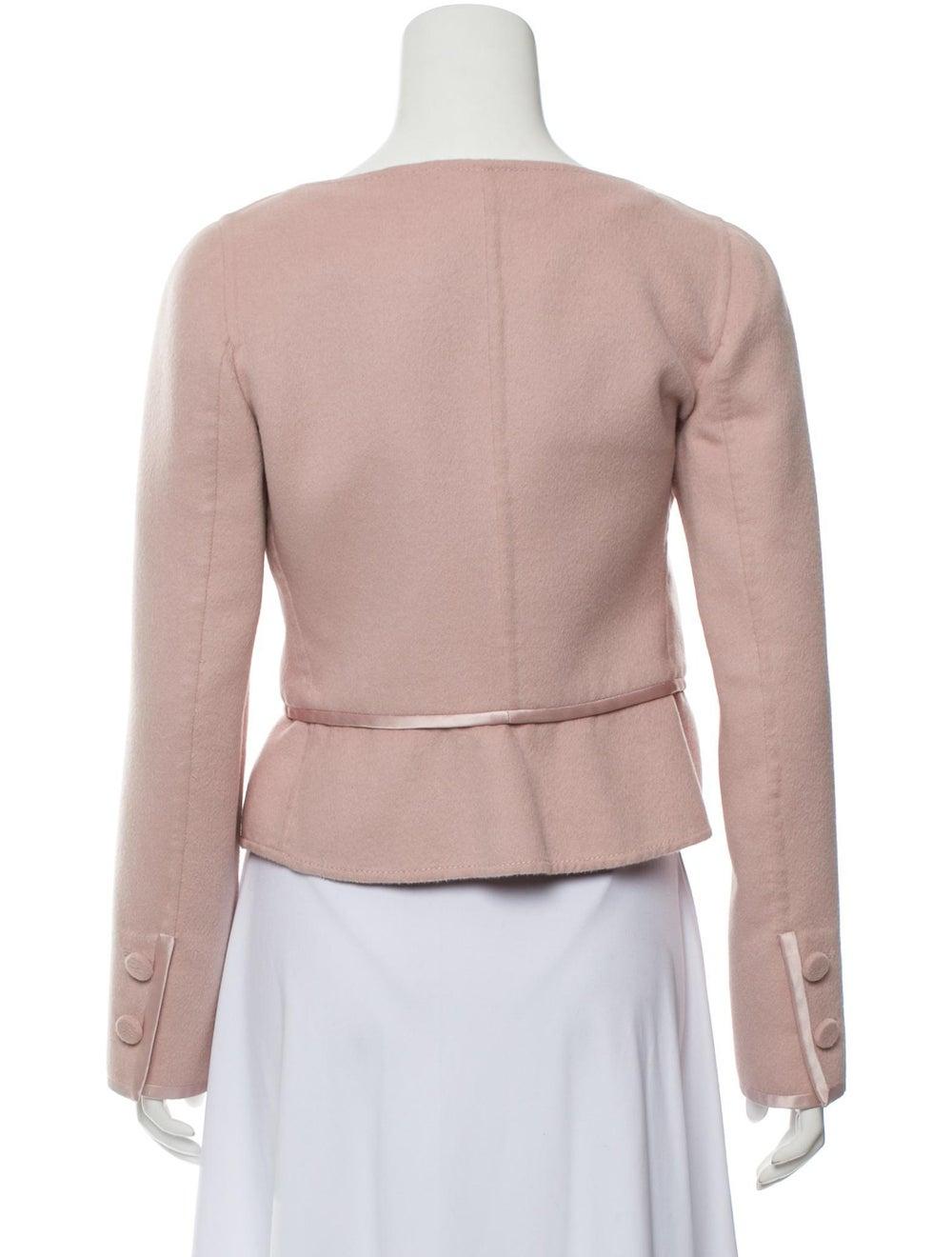 Valentino Wool Satin-Trimmed Jacket Pink - image 3