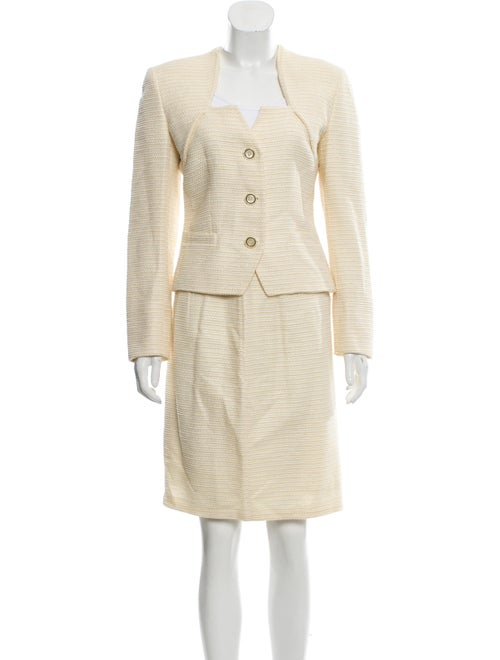 Wool Linen Blend Skirt Suit by Valentino