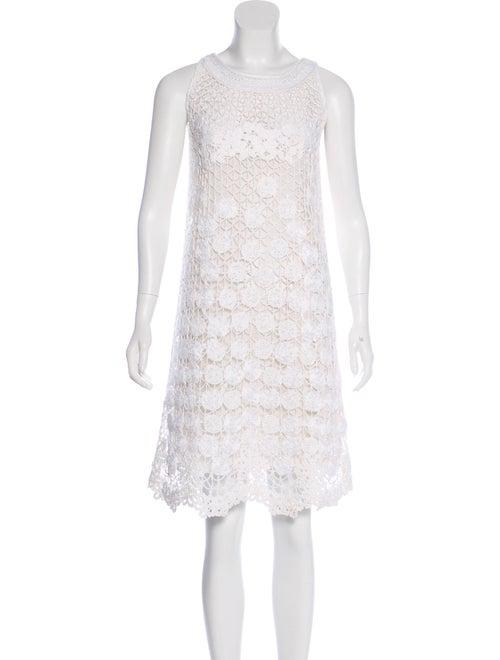 Valentino Sleeveless Crochet Dress White