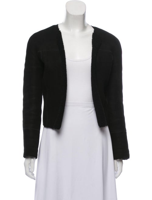 Valentino Vintage Shearling Jacket Black