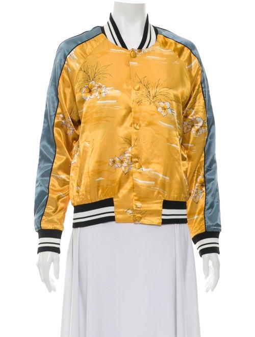 Valentino 2016 Souvenir Bomber Jacket Yellow