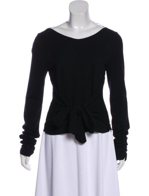 Valentino Lightweight Lace Sweater Black
