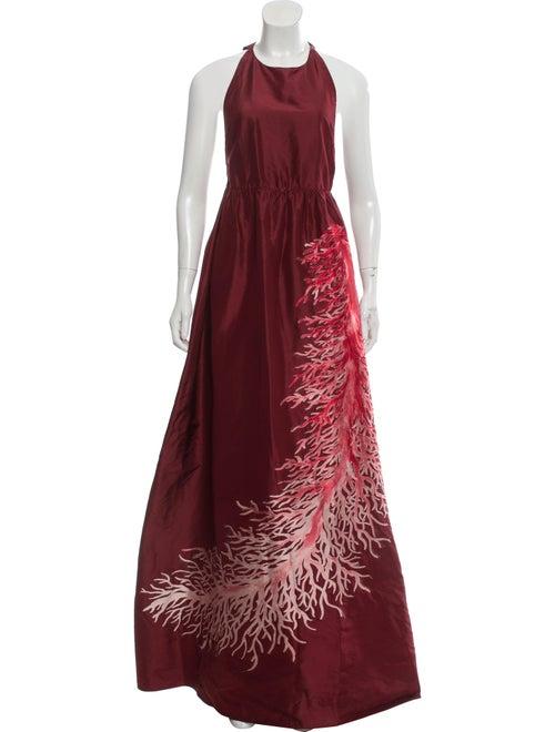 Valentino Silk Evening Dress pink