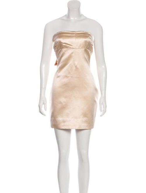 Valentino Satin Strapless Dress
