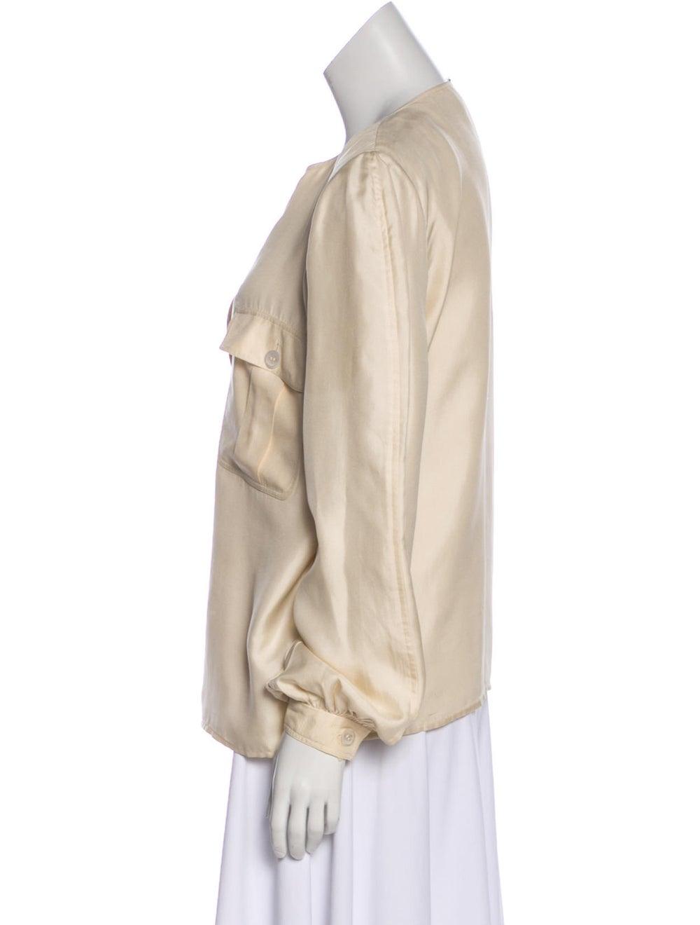 Valentino Silk Long Sleeve Blouse - image 2