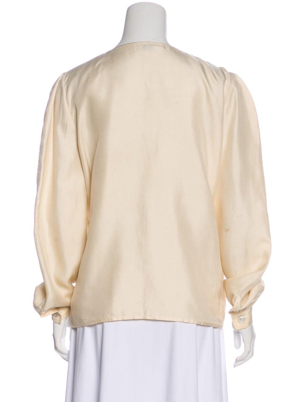 Valentino Silk Long Sleeve Blouse - image 3