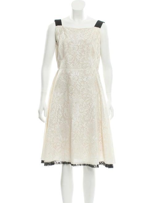 Valentino Silk Lace Dress tan