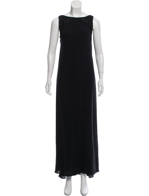 Valentino Silk Evening Gown Black