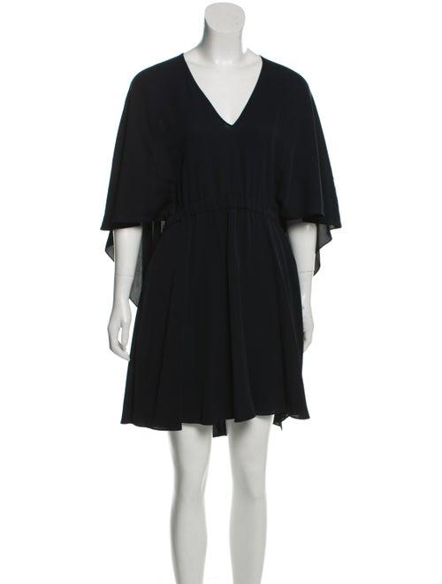 Valentino Silk Mini Dress Dress Navy