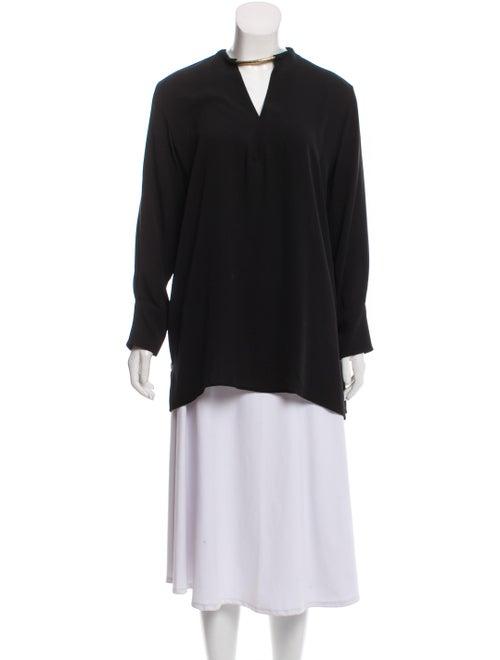 Valentino Silk Long Sleeve Blouse Black