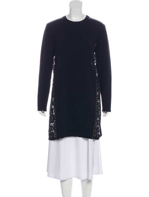 Valentino Embroidered Wool Sweater Black
