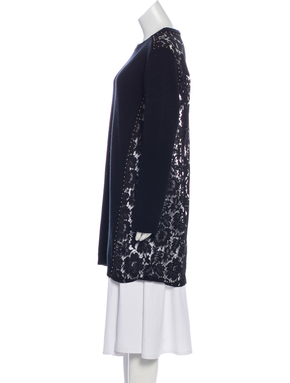 Valentino Embroidered Wool Sweater Black - image 2