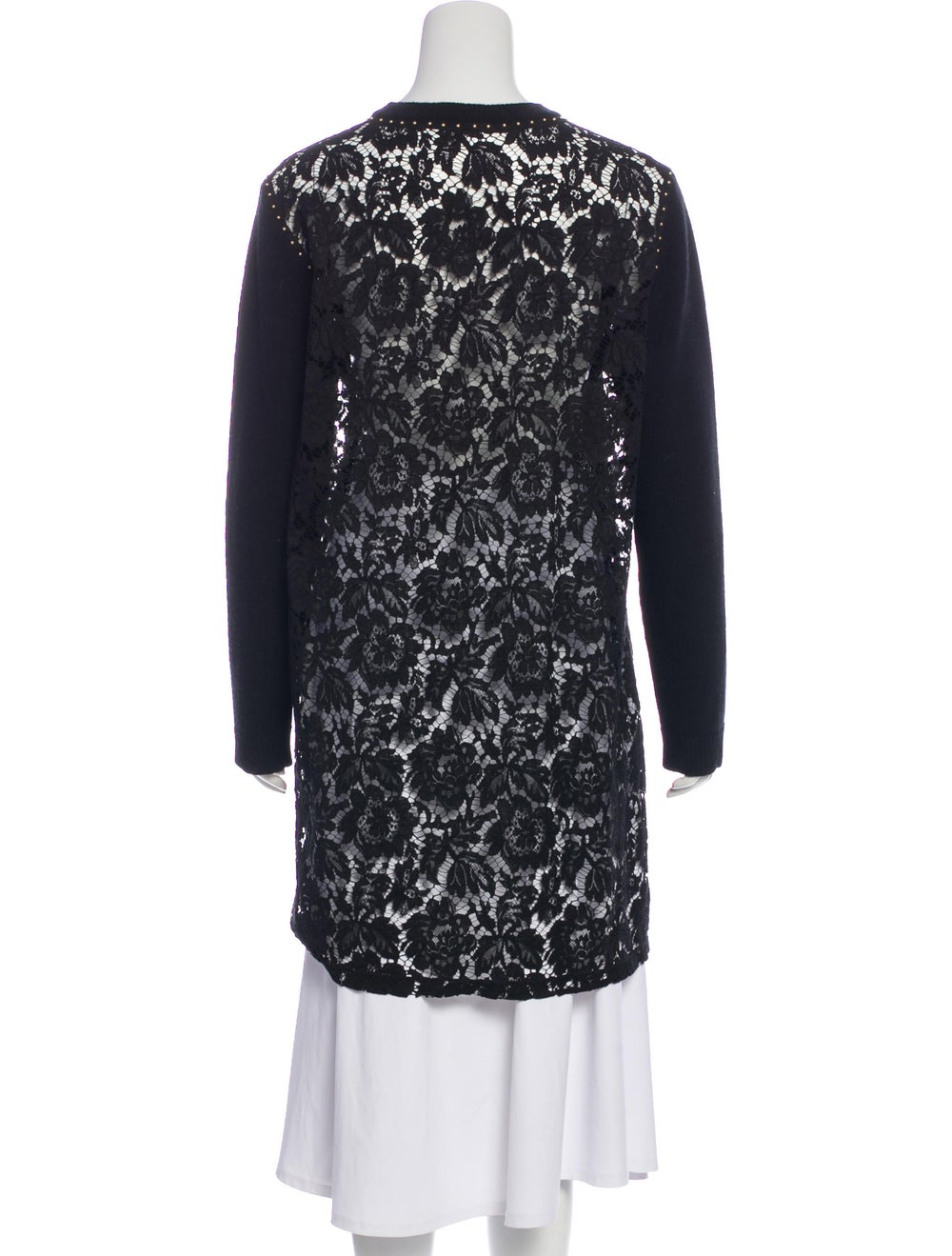 Valentino Embroidered Wool Sweater Black - image 3