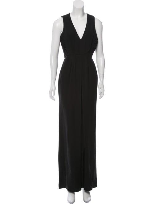 Valentino Silk Wide-Leg Jumpsuit Black