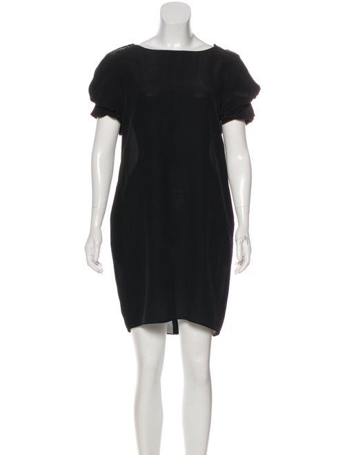 Valentino Puff Sleeve Mini Dress Black