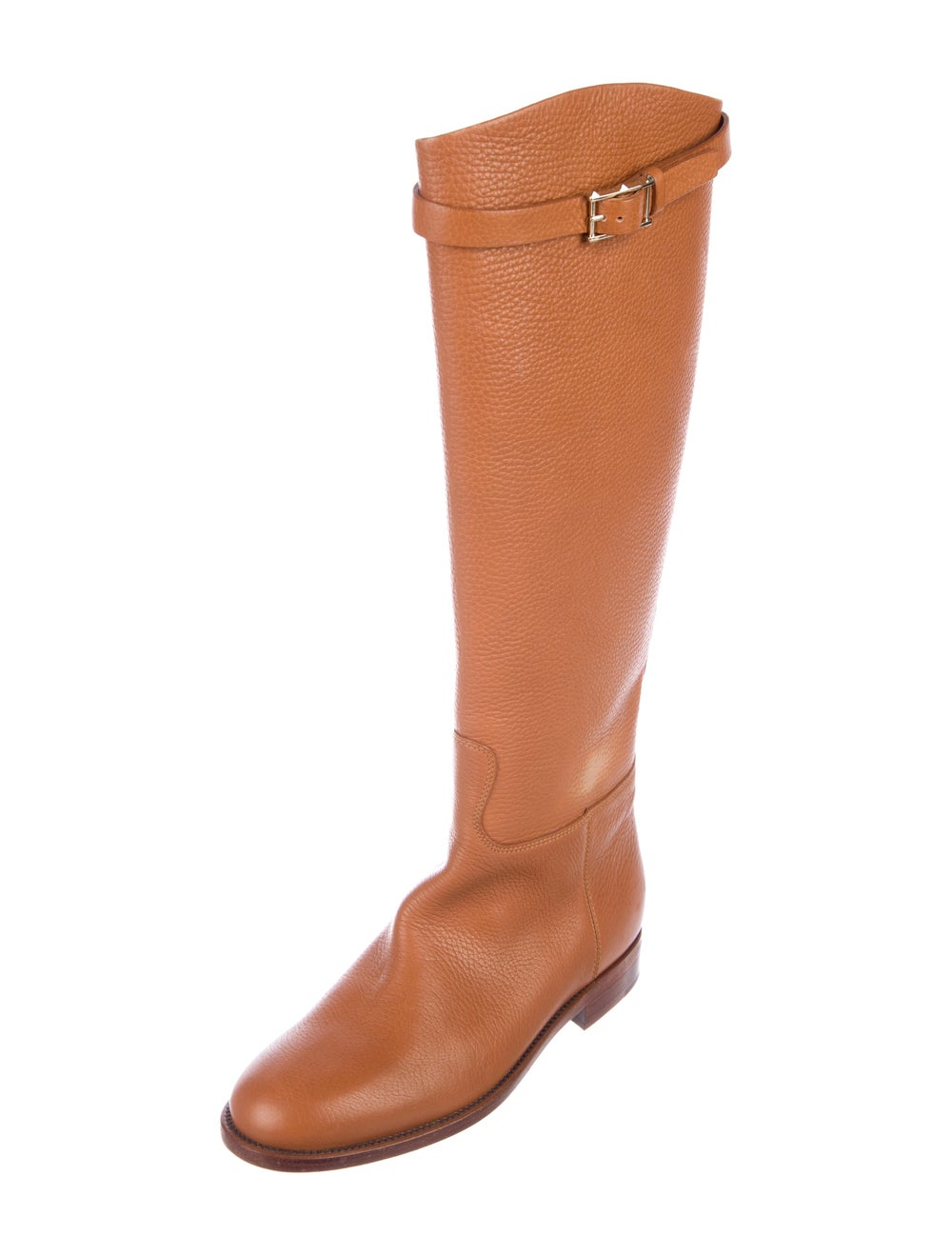 Valentino Knee-High Leather Boots Brown - image 2