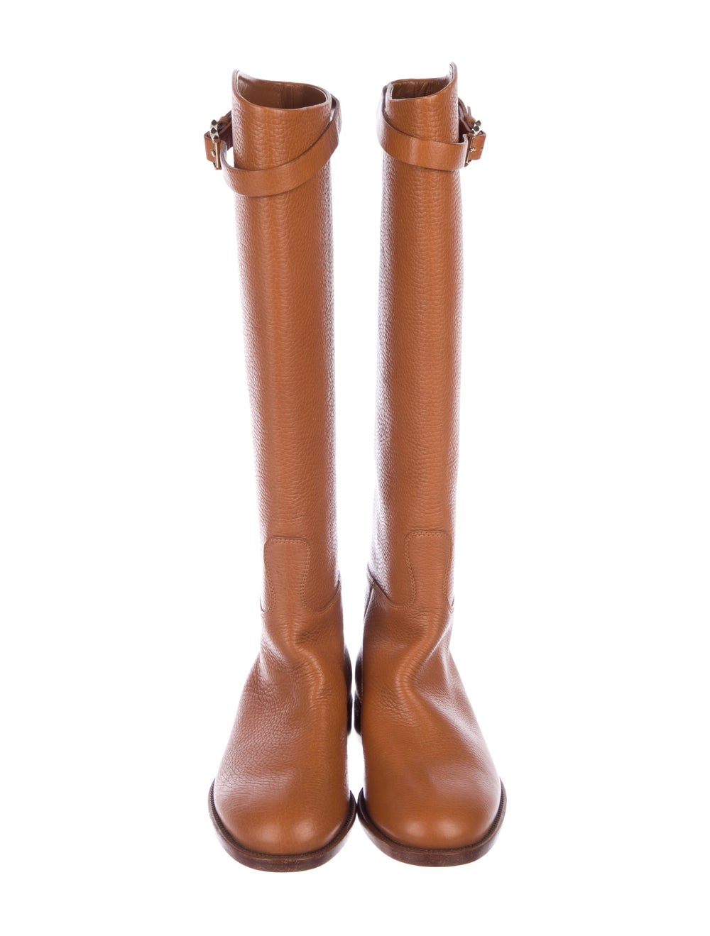 Valentino Knee-High Leather Boots Brown - image 3