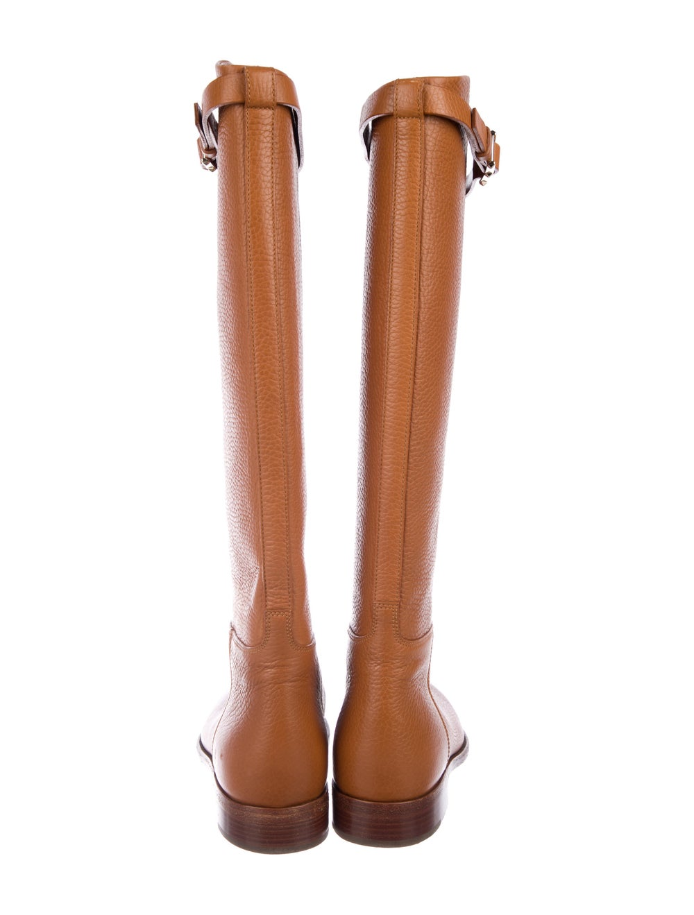Valentino Knee-High Leather Boots Brown - image 4
