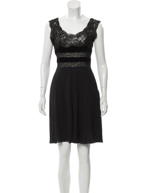 Valentino Silk Beaded Dress Black