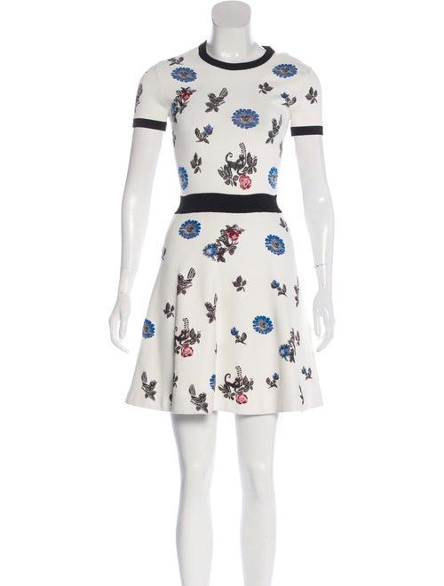 Valentino Floral Skater Dress multicolor