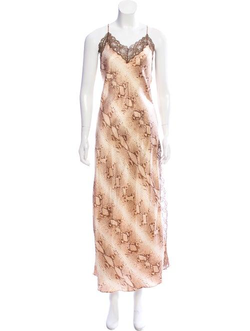 Valentino Silk Snake Print Nightgown
