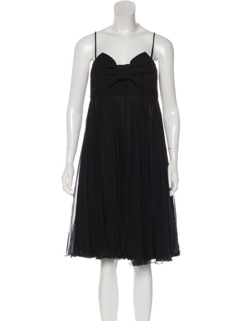 Valentino Silk Sleeveless Dress Black