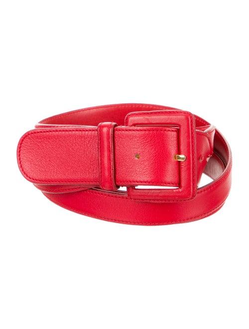 Valentino Leather Waist Belt Red