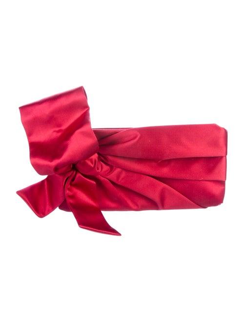 Valentino Satin Bow Clutch gold