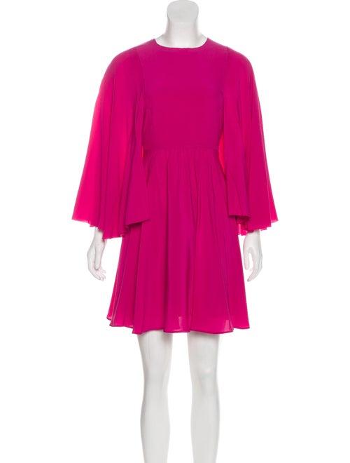 Valentino Silk Mini Dress Fuchsia