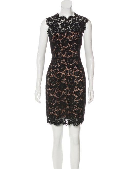 Valentino Lace Mini Dress Black