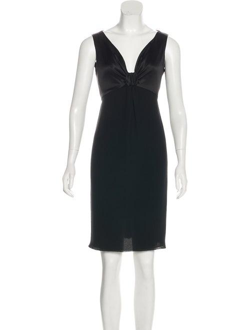 Valentino Sleeveless Silk Dress Black