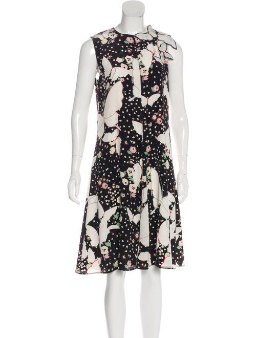 Valentino Silk Floral Dress black