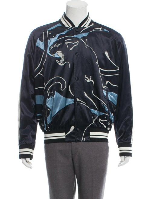 Valentino Animal Printed Souvenir Jacket multicolo