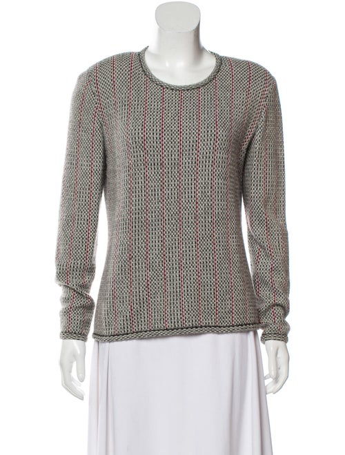Valentino Patterned Knit Sweater White