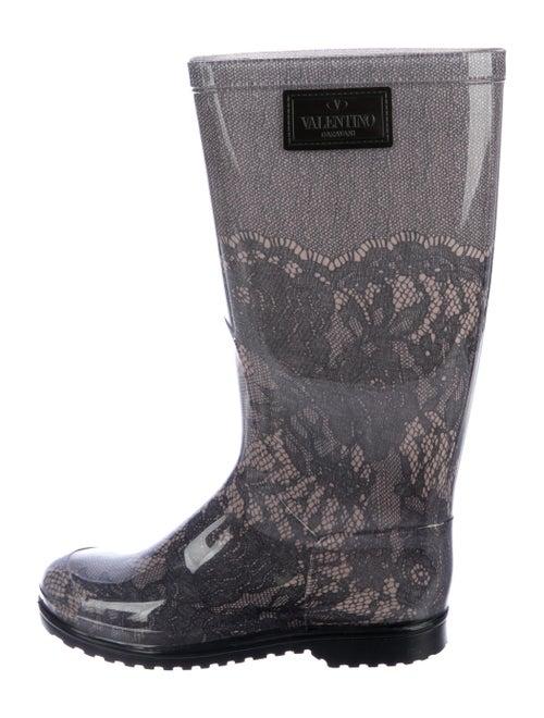 Valentino Rubber Rain Boots Grey