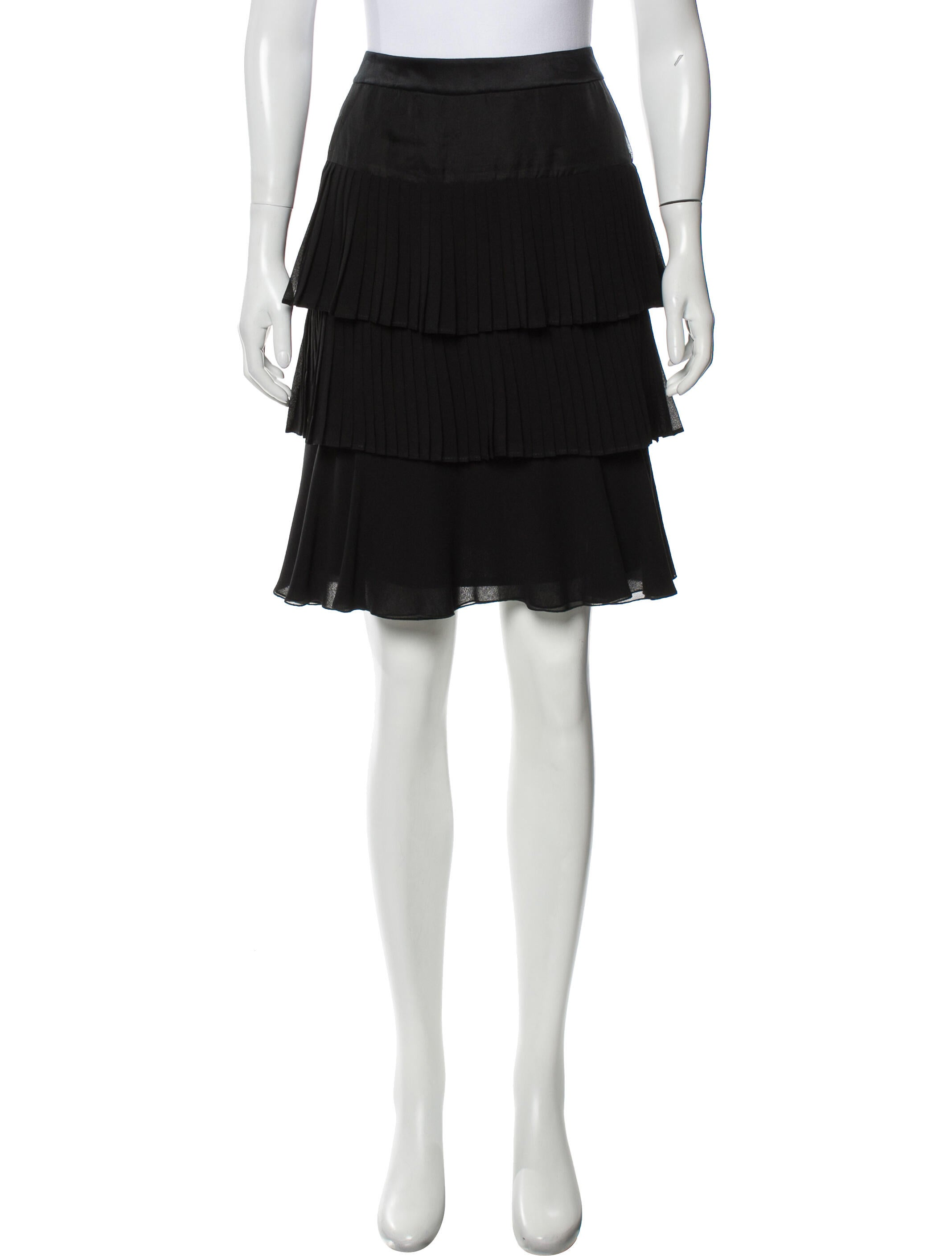Valentino Ruffled Knee-Length Skirt - Clothing -           VAL162280 | The RealReal