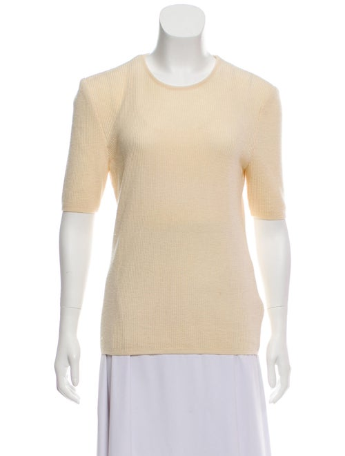 Valentino Wool Short Sleeve Sweater wool