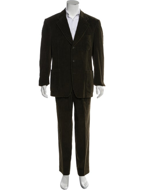 Valentino Corduroy Two-Piece Suit green