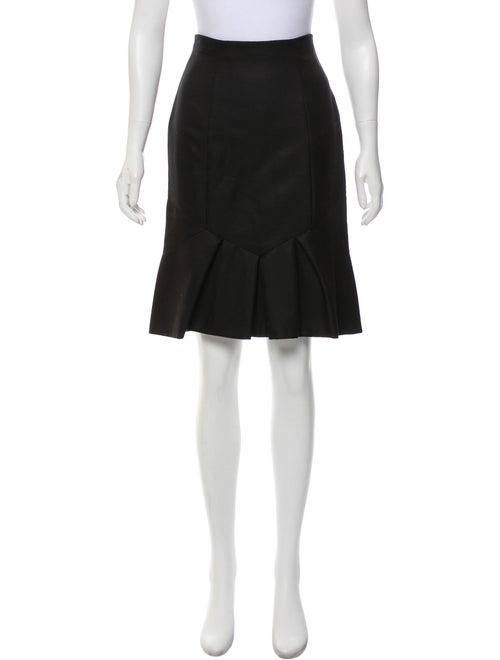 Valentino Wool Pencil Skirt Black